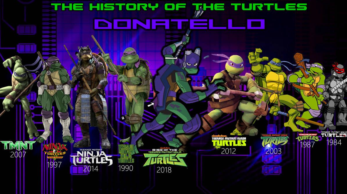 History Of Donatello By Angrygermankidoble On Deviantart Teenage Mutant Ninja Turtles Art Teenage Mutant Ninja Turtles Artwork Donatello Tmnt