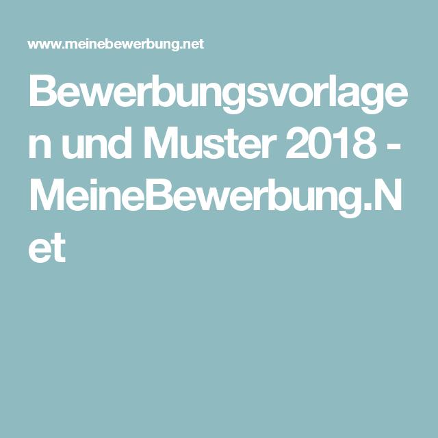 Bewerbungsvorlagen Und Muster 2018 Meinebewerbungnet Tutorial