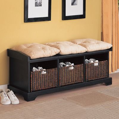 Storage Bench For H S Toys Amp Knick Knacks Black Storage