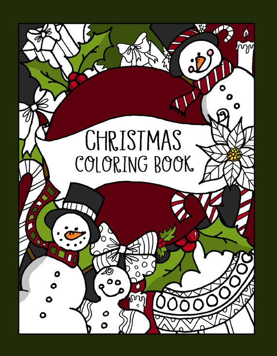 Christmas Coloring Book by LovableLynzi on Etsy | Coloring Pages ...