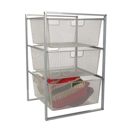 Howards Storage World | Essentials 3 Runner Drawer Frame With 3 Mesh Drawers