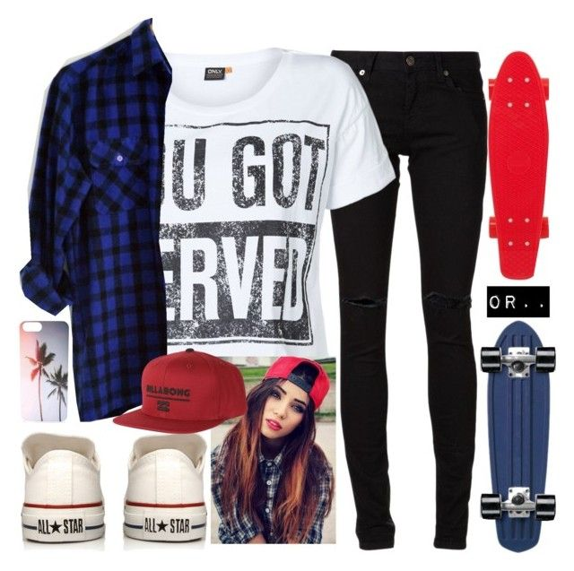 """Foster Kid #144"" by jlol ❤ liked on Polyvore featuring Yves Saint Laurent, Converse, ONLY and Billabong"