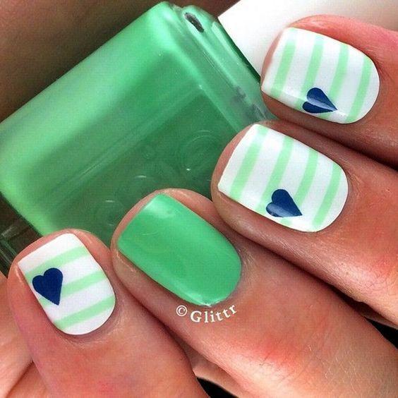 UÑAS CON DISEÑOS A RAYAS | Diseño divertido, Divertido y Diseños de uñas