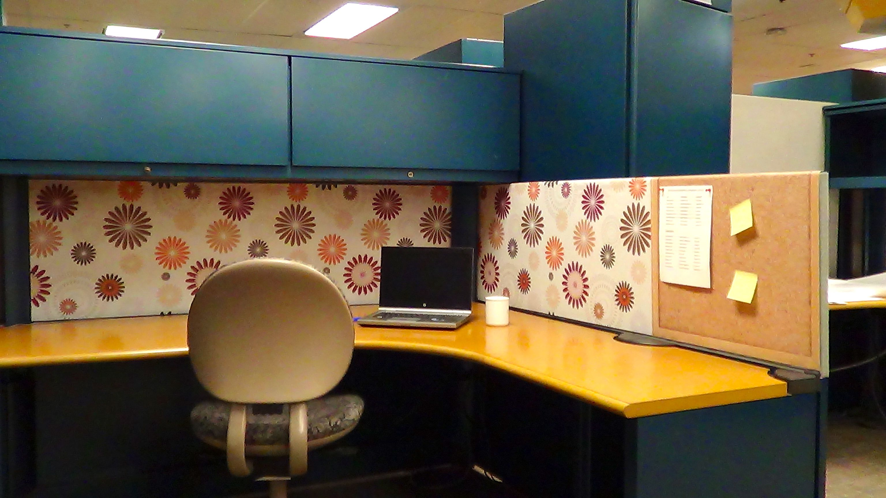 Cubicle Makeover By Dream Cubicle With An Awesome Pattern Design