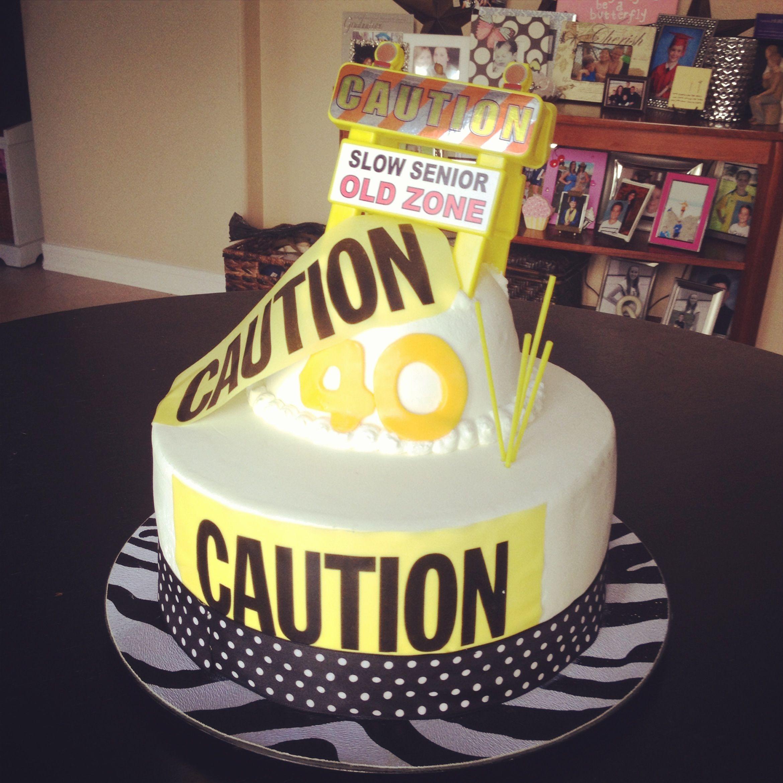 Surprise Happy 40th Birthday Cake