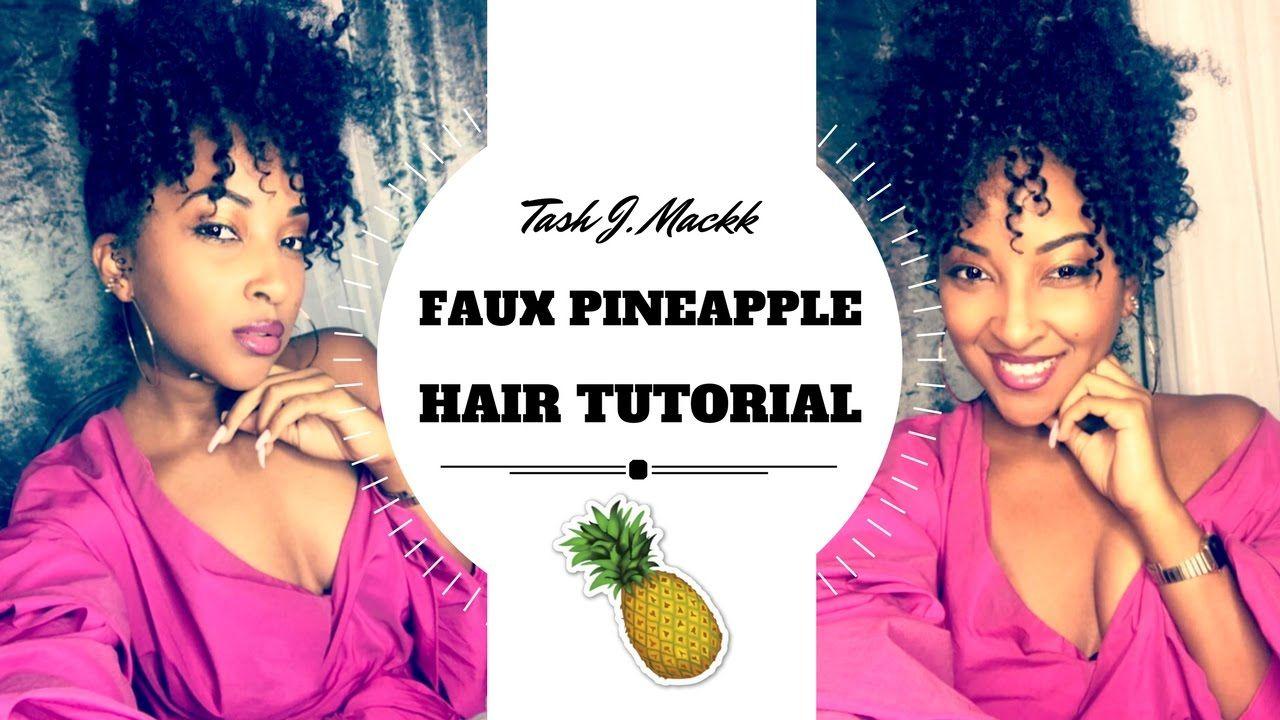 Easy faux pineapple tutorial tashjmackk hair pinterest tutorials