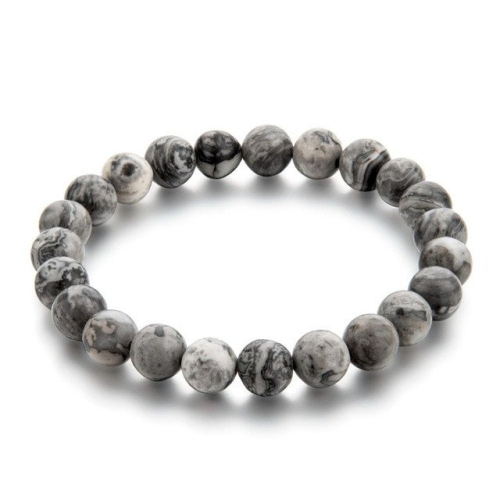 Menswear  gentclothes:  Grey Bead Bracelet   Use code TUMBLR10 for a