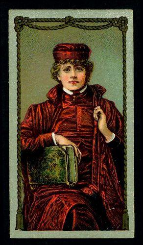 Cigarette Card - Miss Ellen Terry as Portia