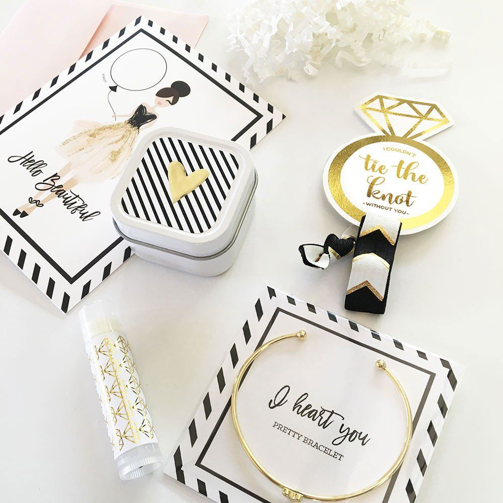 Gift Box Fillers - in Black & Gold and Floral sets | Wedding gift ...