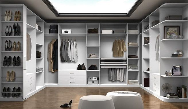 prototipo de vestidor en color blanco perfecto para ordenar toda tu ropa y complementos - Vestidores Abiertos