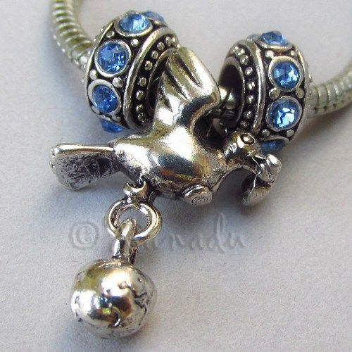 Peace Dove With Olive Branch And Globe Dangle European Charm Trio