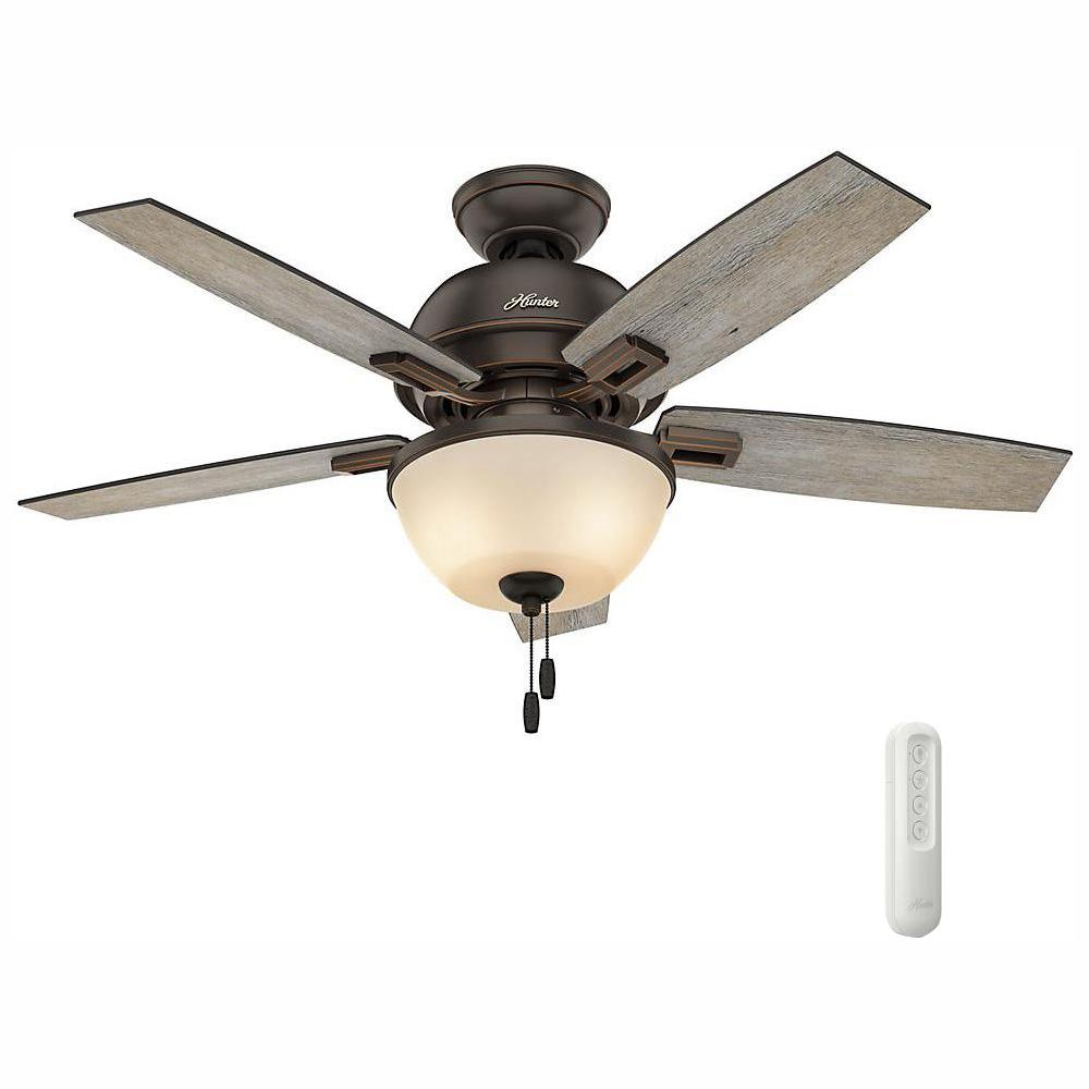 Shop Harbor Breeze 54 Aged Iron Ceiling Fan At Lowes Com Ceiling Fan Ceiling Hunter Ceiling Fans