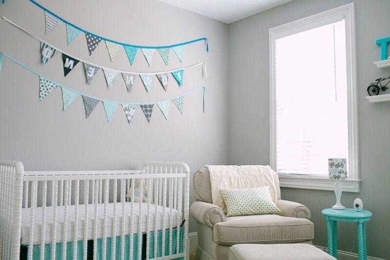Idee Deco Chambre Bebe Bleu Gris Babe Baby Boy Baby Cribs