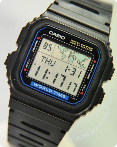 7184c1a47 CASIO - W-520U - WorldTime - Vintage Digital Watch - Digital-Watch.com