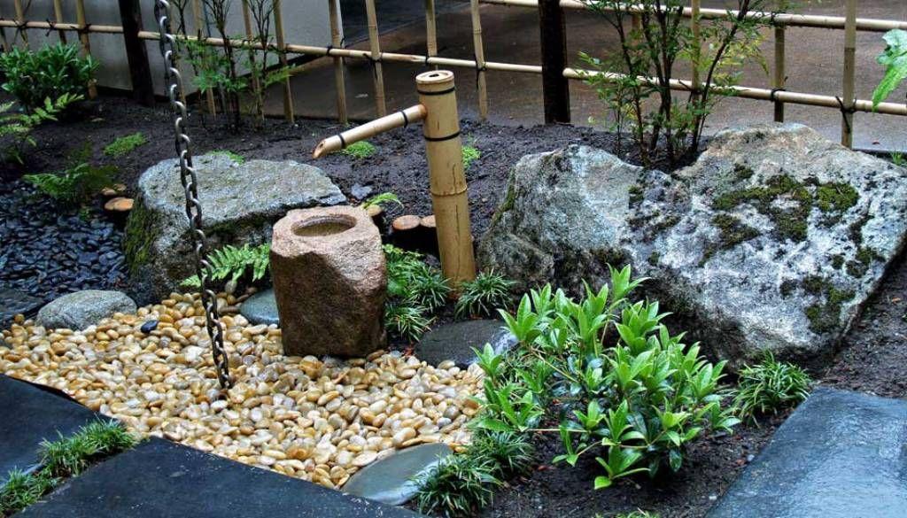 Japanese Garden Design with Simple Water Fountain & Japanese Garden Design with Simple Water Fountain | Outdoor ...