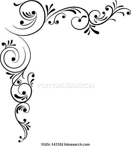 Border design black and white clipart also beautiful borders for chart paper google search rh pinterest
