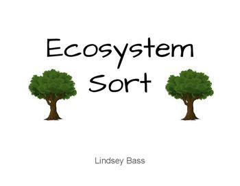 Ecosystem Sort Ecosystems Sorting Biomes