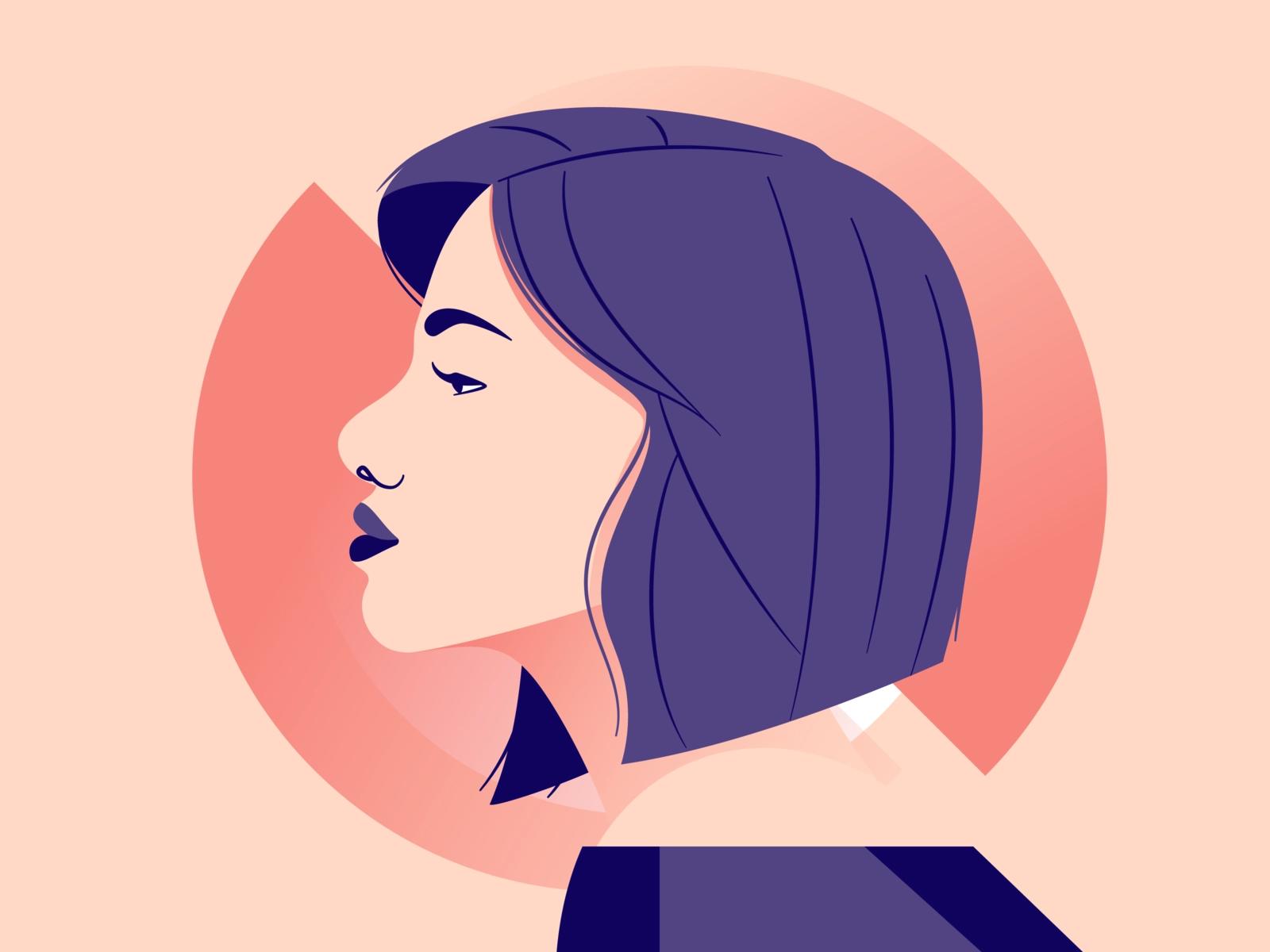 Side Profile Side Profile Profile Drawing Character Art