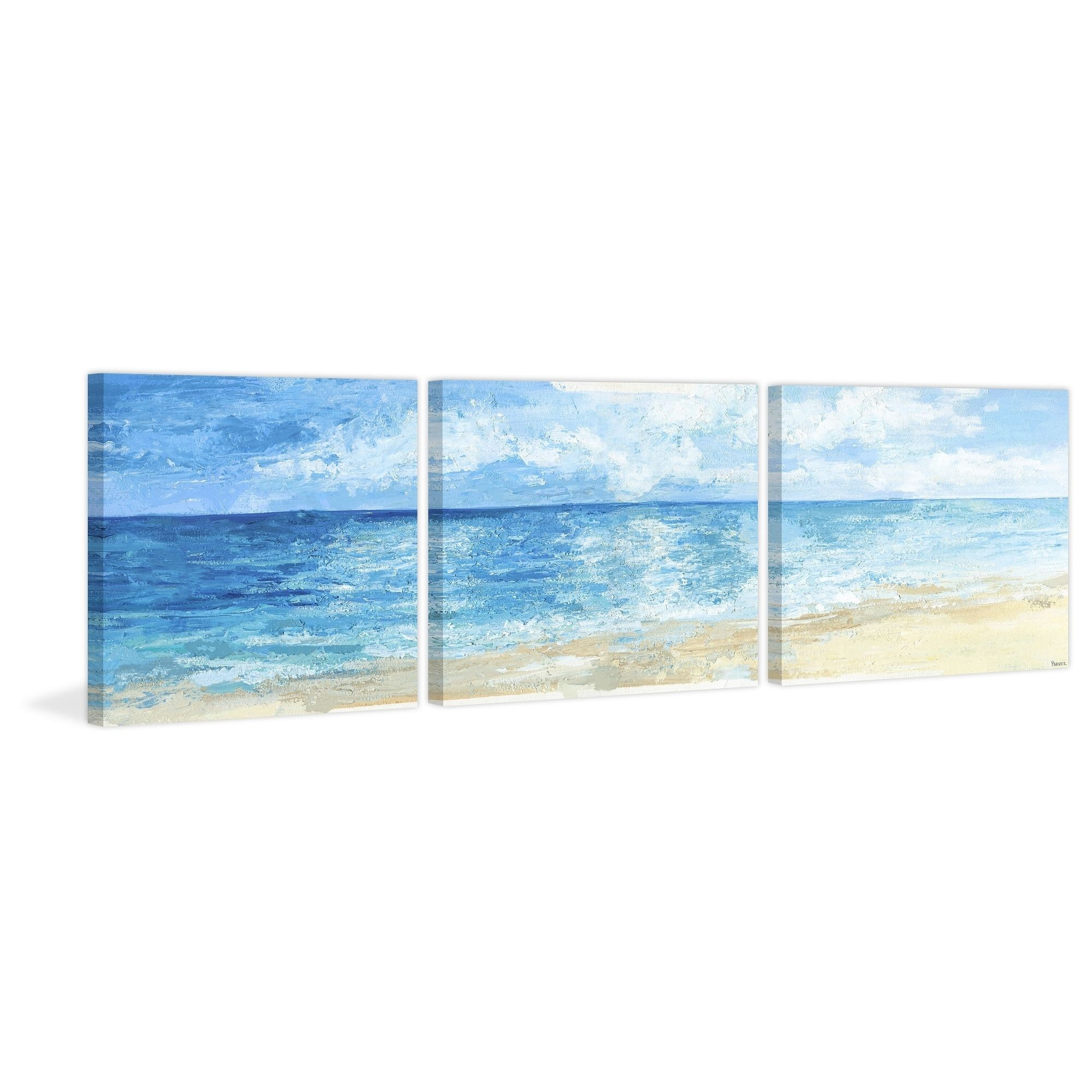 Overstock Com Online Shopping Bedding Furniture Electronics Jewelry Clothing More Blue Sea Deep Blue Sea Triptych