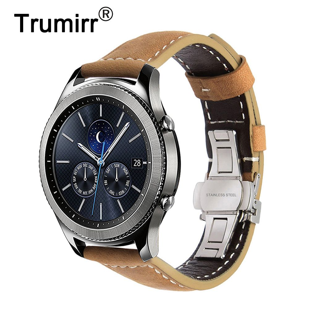 Only Us 13 49 Italian Genuine Leather Watchband 22mm Quick Release For Samsung Gear S3 Classic Frontier Gear 2 Neo Watch Bands Swiss Army Watches Cool Watches