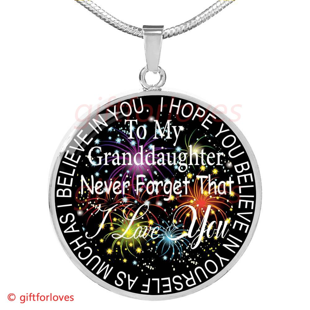 To My Granddaughter Luxury Necklace Grandchildren And Grandparents Birthday Gifts For Amazing