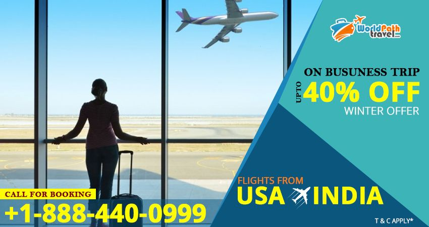 Pay Less for your #Businesstraveltoindia!!  Book your online #flights to your business #destinationsinindia from #USA in winters and grab the #bestdealstoindia with #Worldpathtravel.   For more info: call: +1-888-440-0999  #cheapflightstoindia #usatoindiaflights #bestairlinestoindia #bestdealsonflights #cheapflightbooking #bestflightdeals