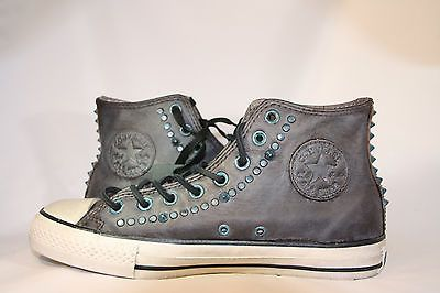 Studded converse, Leather sneakers