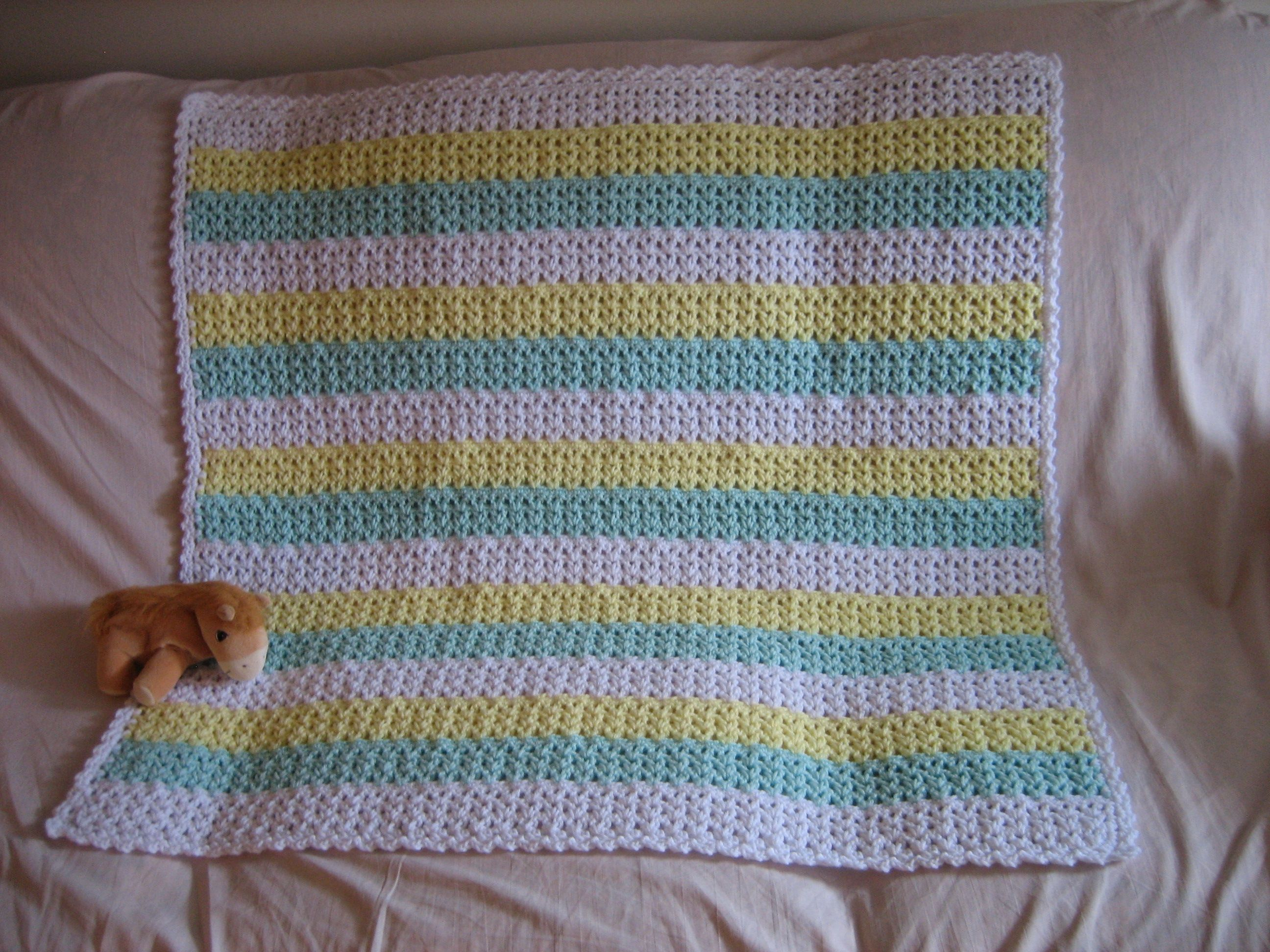 Striped crochet afghan bankloansurffo Image collections