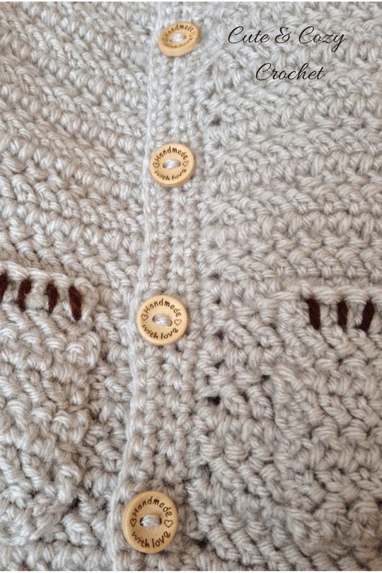 Herringbone Baby Sweater Free Crochet Pattern Baby Sweater