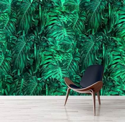 Wall Paper Green Jungles 63+ Ideas wall Brown wallpaper