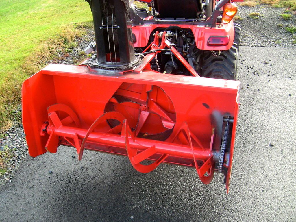 Installing Snowblower On Kubota Bx Tractor Tractors Kubota Tractor Accessories