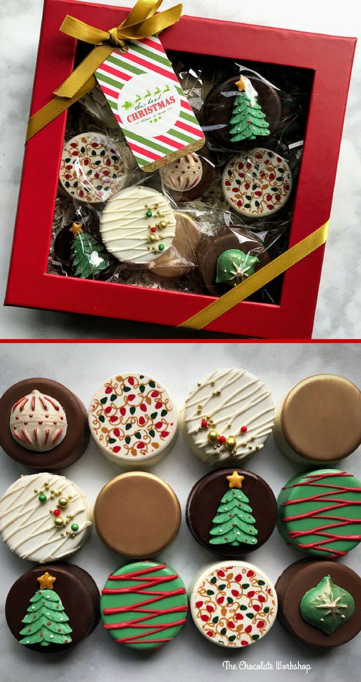 A Christmas Cookies Gift Box What A Great Idea Giftideas Ad