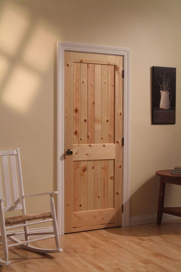 Knotty Pine 2 Planked Panel Square Top Door 102 Door Design Interior Doors Interior Interior Door Styles