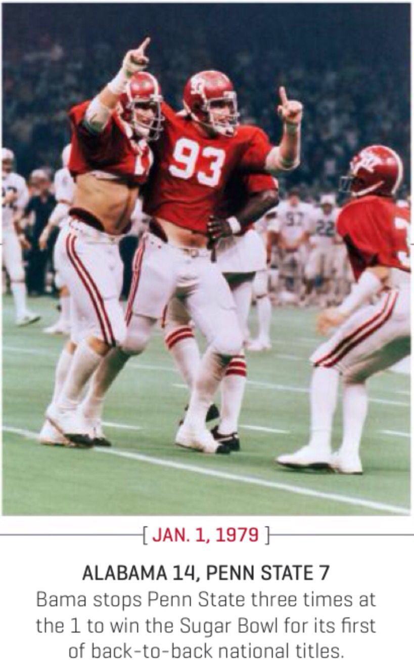 1979 Sugar Bowl Alabama Beats Penn St 14 7 To Win The National Championship Via Es Alabama Crimson Tide Football Crimson Tide Football Alabama Crimson Tide