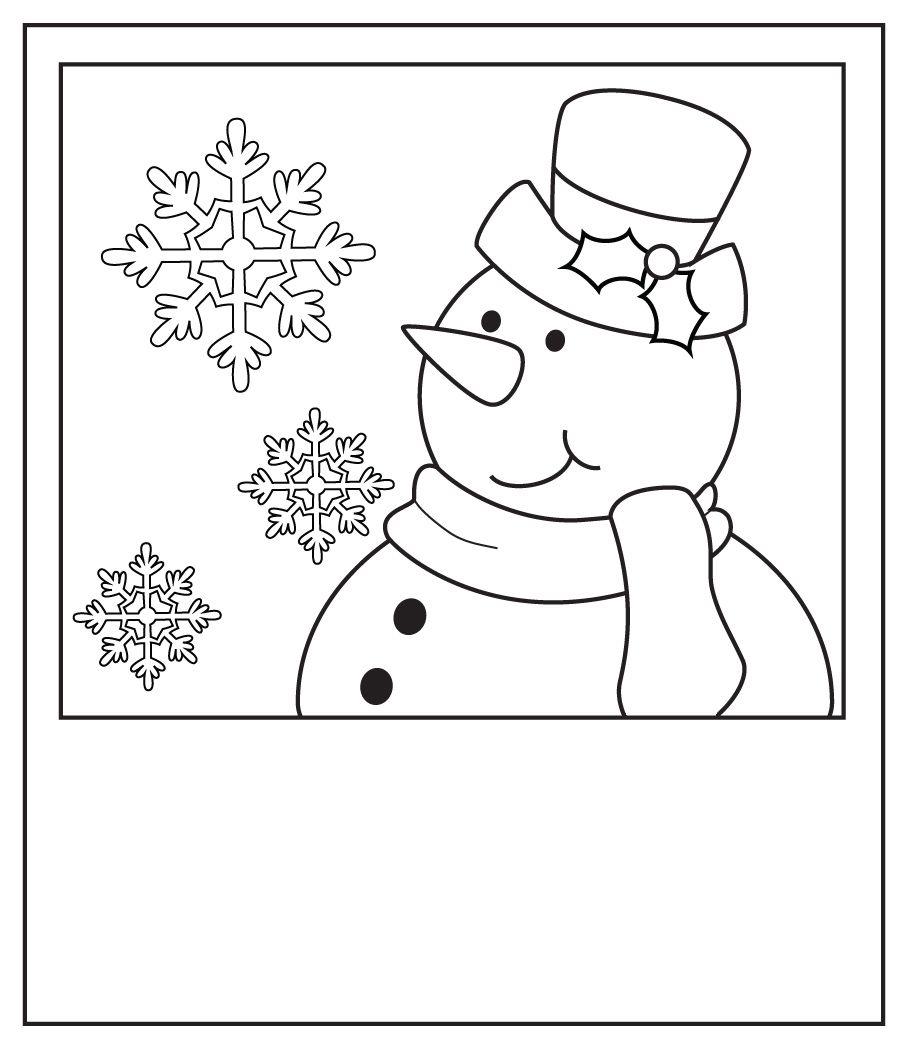 muñeco nieve   Dibujos para colorear   Pinterest   Muñeco nieve ...