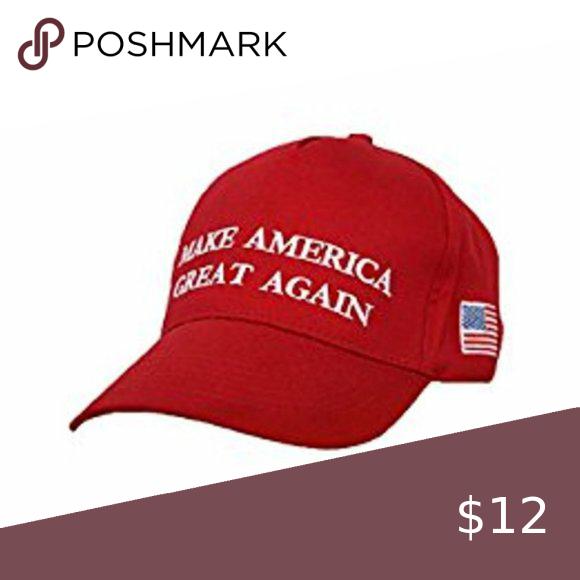 Maga Trump Baseball Hat Nwot Nwot Red Trump Maga Baseball Style Hat With American Flag Adjustable Velcro Back Trump Accessories In 2020 Baseball Hats Hat Fashion Hats