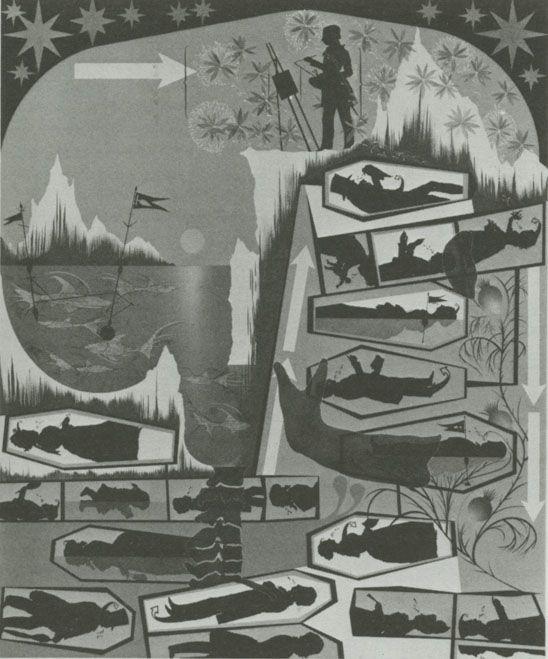 Lari Pittman, This Landscape, beloved and despised, continues regardless, 1989, acrylic on mahogany panel, 72 × 60 inches. BOMB Magazine — Lari Pittman by David Pagel