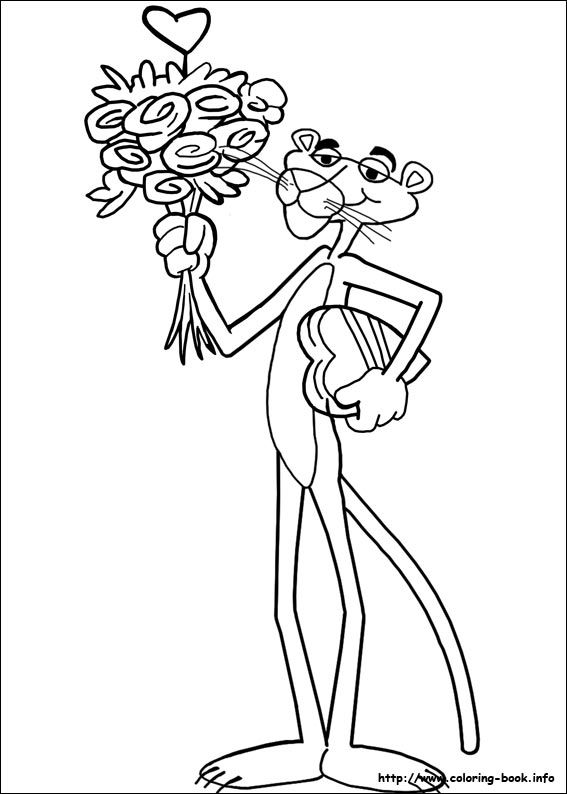 Pink Panther Coloring Pages Flower Coloring Pages Pink Panter