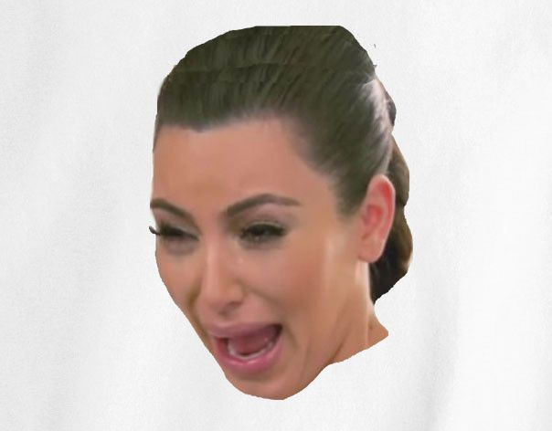 Kim kardashian crying face color tee t shirt