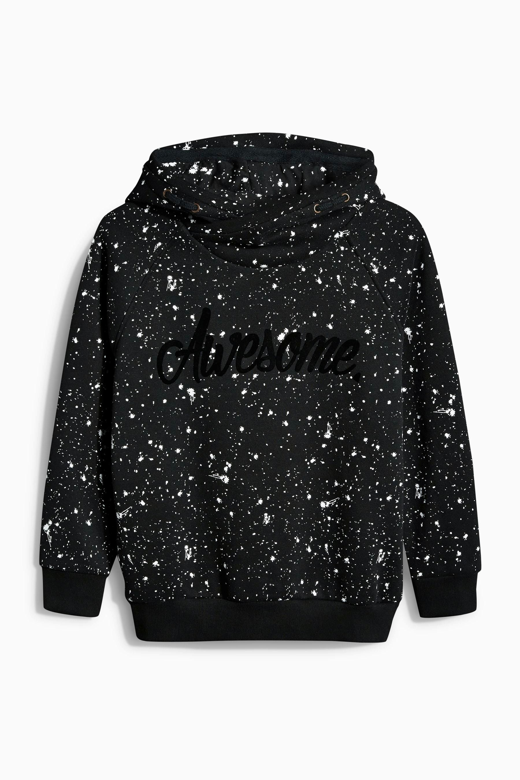 2f8fb93c85d3 Buy Black Paint Spot Overhead Hoody (3-16yrs) from the Next UK online shop