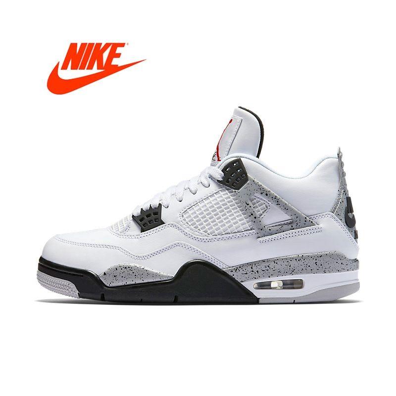 3aa5031b503 Kool Fake Nike Air Jordan 4 OG AJ4 White Cement Men's Basketball ...