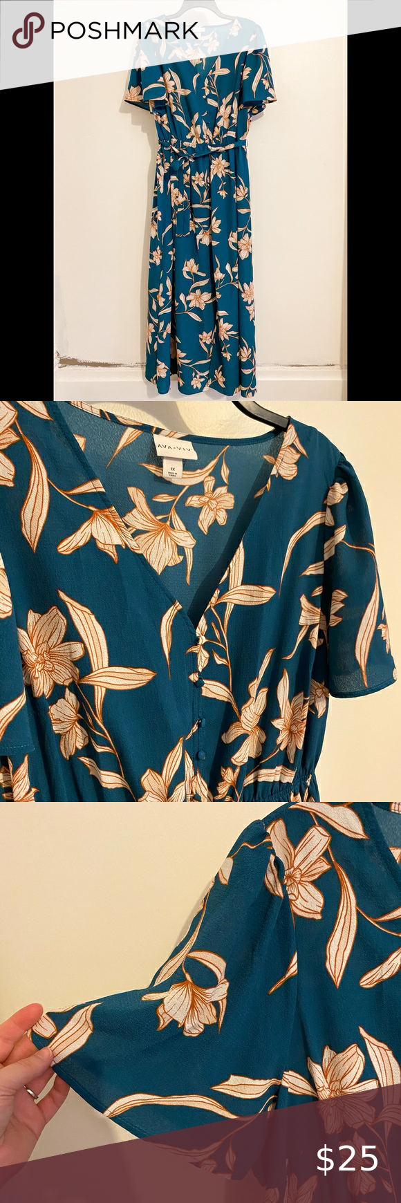 Target Ava Viv Blue Floral Dress Floral Blue Dress Floral Dress Ava Viv [ 1740 x 580 Pixel ]