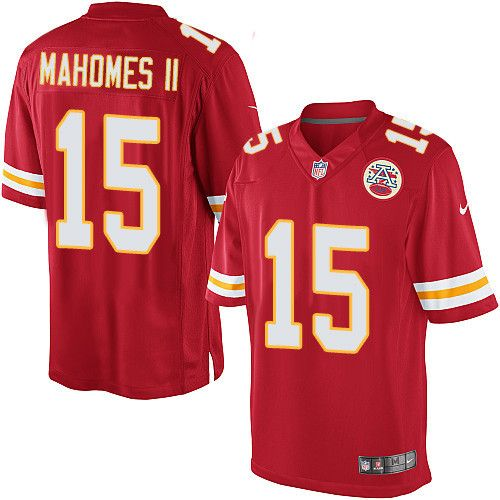 Youth Nike Kansas City Chiefs  15 Patrick Mahomes II Limited Red Team Color  NFL Jersey 5557621a3