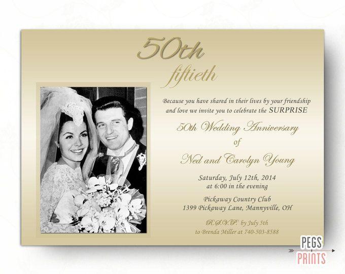 Surprise Wedding Anniversary Invitation 50th Printable