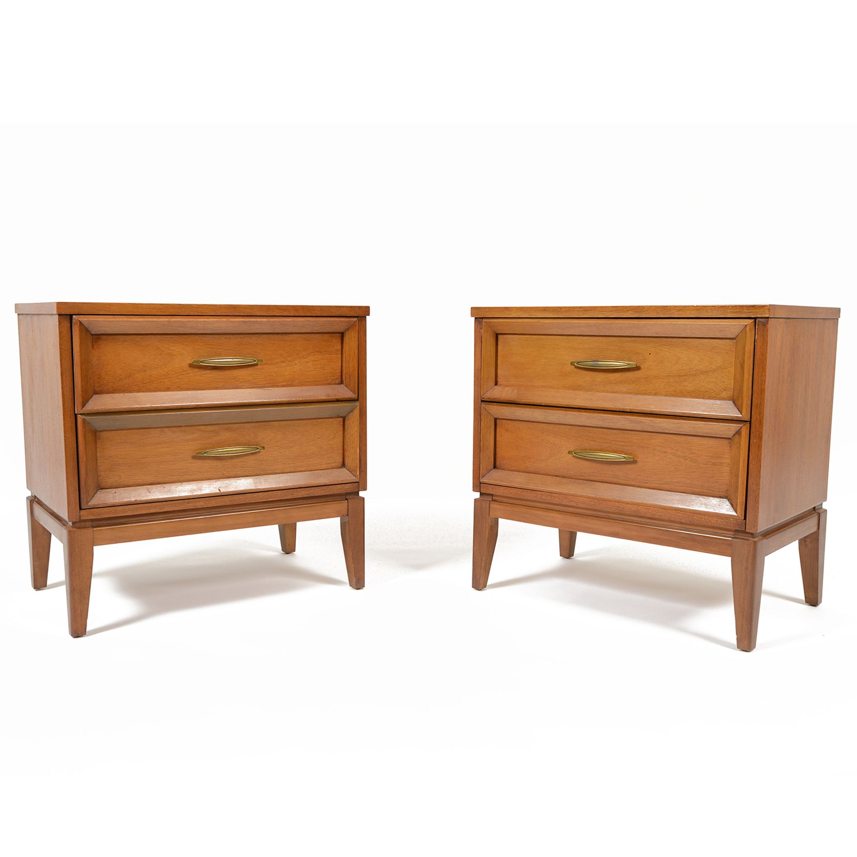 Best Pair Of Mid Century Walnut Nightstands By Dixie • Mid 400 x 300