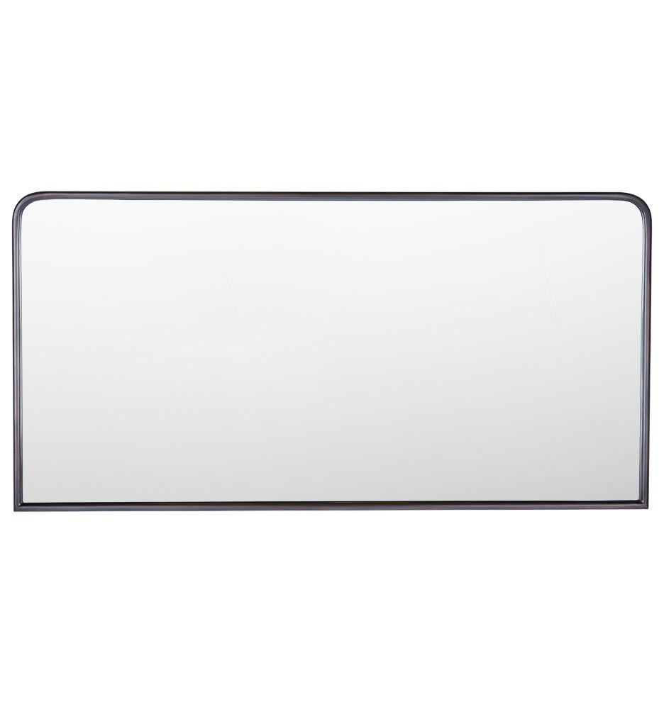 Metal Framed Mirror Rounded Rectangle Metal Frame Mirror Framed Mirror Wall Mirror