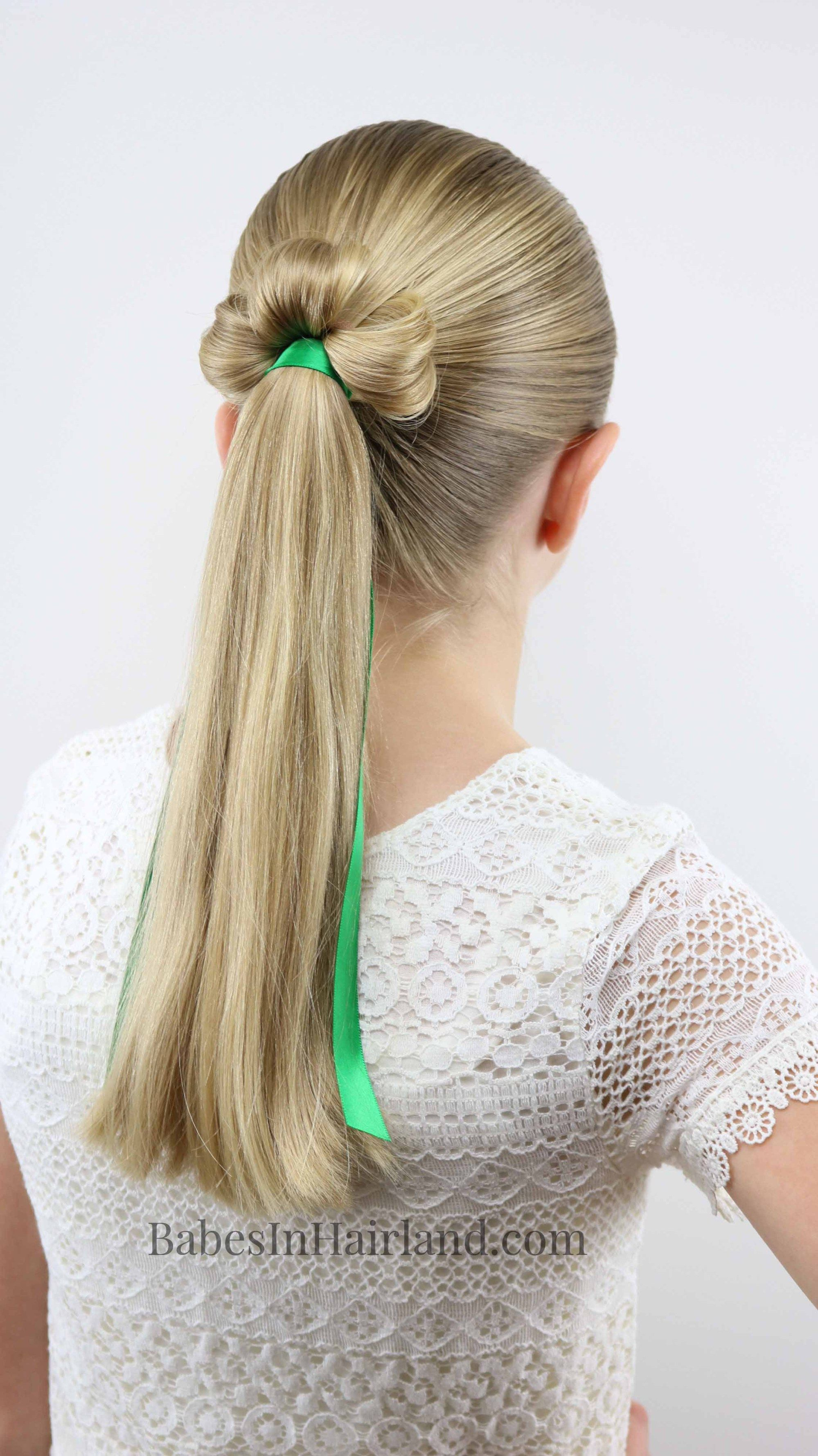 This Is The Cutest St Patrick S Day Hairstyle I Ve Seen Try A Shamrock Ponytail For Luck From Babesinhairla Hair Styles Cool Braid Hairstyles Kids Hairstyles