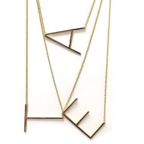 Our wonderful sideways large initial necklaces block lettering our wonderful sideways large initial necklaces block lettering initial letters and initials aloadofball Images