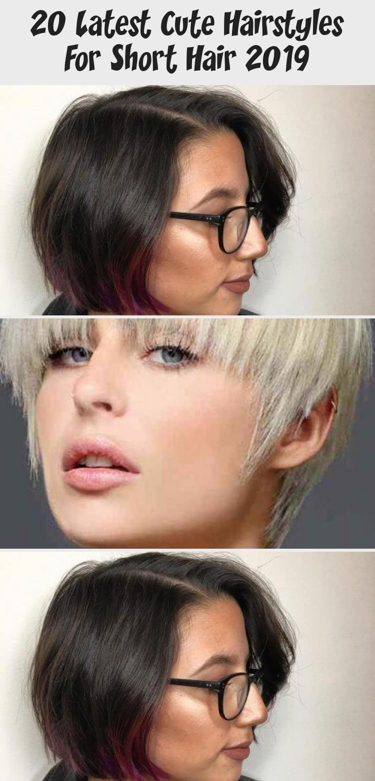 20 Latest Cute Hairstyles for Short Hair 2019 – Styles Art #CuteHairstylesCurly …
