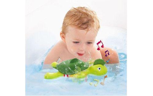 Süße Wind-up-Schildkröte, die schwimmt und singt – drück seinen Kopf, damit er summt oder gar …